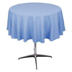 Phoenix Textile Industries - PL72R-WBL - Round Polyester Tablecloth, Wedgewood Blue; PK1