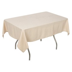 Phoenix Textile Industries - PL5270-BE - 70 x 52 Rectangle Polyester Tablecloth, Beige; PK1