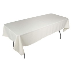 Phoenix Textile Industries - PL5270-IV - 70 x 52 Rectangle Polyester Tablecloth, Ivory; PK1