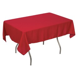 Phoenix Textile Industries - PL5270-RD - 70 x 52 Rectangle Polyester Tablecloth, Red; PK1