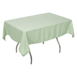 Phoenix Textile Industries - PL5270-SEAFOAMGR - 70 x 52 Rectangle Polyester Tablecloth, Sea Foam Green; PK1