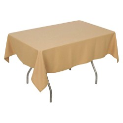 Phoenix Textile Industries - PL5270-SW - 70 x 52 Rectangle Polyester Tablecloth, Sandalwood; PK1
