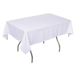 Phoenix Textile Industries - PL5270-WH - 70 x 52 Rectangle Polyester Tablecloth, White; PK1