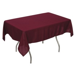 Phoenix Textile Industries - PL5296-BG - 96 x 52 Rectangle Polyester Tablecloth, Burgundy; PK1