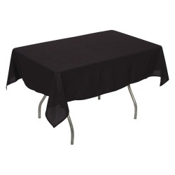 Phoenix Textile Industries - PL5296-BK - 96 x 52 Rectangle Polyester Tablecloth, Black; PK1