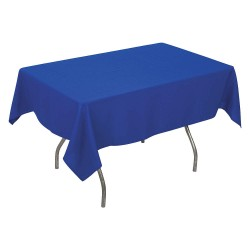 Phoenix Textile Industries - PL5296-BL - 96 x 52 Rectangle Polyester Tablecloth, Royal Blue; PK1