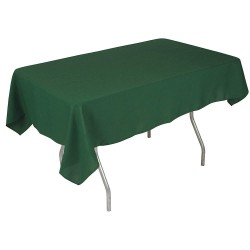 Phoenix Textile Industries - PL5296-FO - 96 x 52 Rectangle Polyester Tablecloth, Forest Green; PK1
