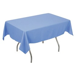 Phoenix Textile Industries - PL5296-WBL - 96 x 52 Rectangle Polyester Tablecloth, Wedgewood Blue; PK1