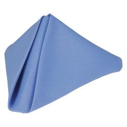 Phoenix Textile Industries - PN1818-WBL - 18 x 18 Square Polyester Napkin, Wedgewood Blue; PK12