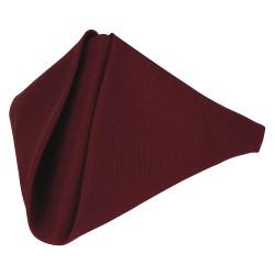 Phoenix Textile Industries - PN020-BG - 20 x 20 Square Polyester Napkin, Burgundy; PK12