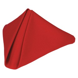 Phoenix Textile Industries - PN2020-RD - 20 x 20 Square Polyester Napkin, Red; PK12