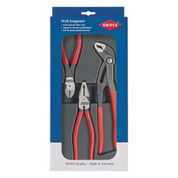 Knipex Tools - 00 20 10 - Knipex 00 20 10 20 10 Combination, Diagonal Cutter, and Water Pump Pliers Set - 3pc