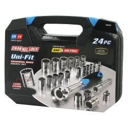 Channellock - 38054 - 24-Piece Uni-Fit Socket Set