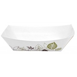 Dixie - KL200PATH - Paper Disposable Food Tray with 2 lb. Weight Capacity, White/Brown/Green; PK1000