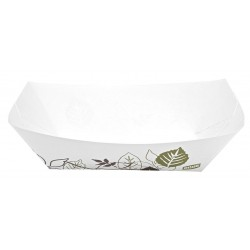 Dixie - KL250PATH - Paper Disposable Food Tray with 2-1/2 lb. Weight Capacity, White/Brown/Green; PK500