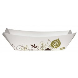 Dixie - KL40PATH - Paper Disposable Food Tray with 3/8 lb. Weight Capacity, White/Brown/Green; PK1000