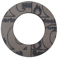 Garlock / EnPro Industries - 9900RG-0150-062-0250 - Graphite with Nitrile Binder Flange Gasket, 4-7/8 Outside Dia., Mahogany