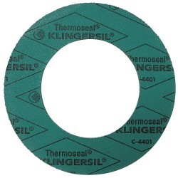 Thermoseal - 4401RG-0150-062-0150 - Synthetic Fibers with Nitrile Binder Flange Gasket, 3-3/8 Outside Dia., Green