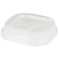 Dinex / Carlisle - DX11810174 - 4 Dia. Polystyrene Square Dome Cold Cup Lid, Clear; PK1000