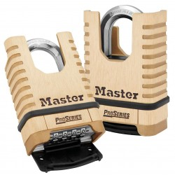 Master Lock - 1177 - Combination Padlock, Resettable Bottom-Dial Location, 1-1/16 Shackle Height