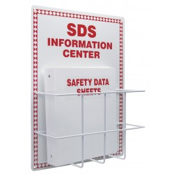 Accuform Signs - ZRS407 - Accuform Signs 20 X 15 Red Diamond Border And Red And White 0.063 Aluminum Backboard American English Safety Information Center Kit SDS INFORMATION CENTER, ( Each )