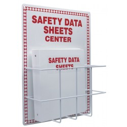 Accuform Signs - ZRS409 - Accuform Signs 20 X 15 Red Diamond Border And Red And White 0.063 Aluminum Backboard American English Safety Data Sheet Center Kit SAFETY DATA SHEETS CENTER, ( Each )