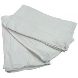 R&R Textile Mills - 51610 - 27 x 16 86% Cotton, 14% Polyester Hand Towel, White; PK12