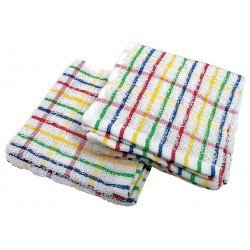 R&R Textile Mills - 31262 - Dish Cloth, 12x12In, RaInbow Pattern, PK12