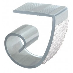 Fastenation - MC - 1 Rigid PVC Multiple Table Skirting Clip with Hook-and-Loop with 3/4 to 1-1/2 Thickness; PK100