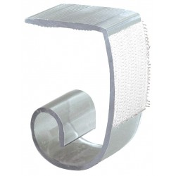 Fastenation - SMC - 1 Rigid PVC Super Multi Skirting Clip with Hook-and-Loop with 2 Thickness; PK100