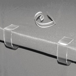 Fastenation - TCC - 1 Rigid PVC Table Cloth Clip with 3/4 to 1-1/2 Thickness; PK100