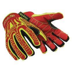 HexArmor - 2023-M (8) - Cold Cut, Abrasion and Impact Resistant Gloves, Polyester Lining, Slip Fit Cuff, Hi-Visibility Yello