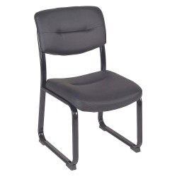 Regency Furniture - 1007 - Guest Chair, Leather, Black, 35inH x 21inW