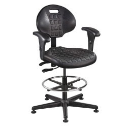 Bevco Precision - 7501-AA BLACK - Black Polyurethane Task Chair 12-1/2 Back Height, Arm Style: No Arms
