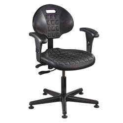 Bevco Precision - 7001-AA BLACK - Black Polyurethane Task Chair 12-1/2 Back Height, Arm Style: Adjustable