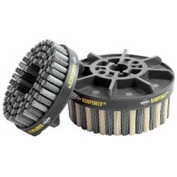Nam Power Brush - ADD10038320 - Abrasive Nylon Brush, 100mm D, 320 Grit