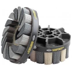 Nam Power Brush - ADT10018180 - Abrasive Nylon Brush, 100mm D, 180 Grit