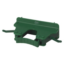 Vikan - 10172 - Tool Wall Bracket, Poly, Green, 8-1/2 in