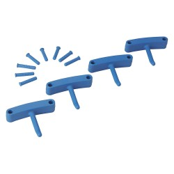 Vikan - 10163 - Replacement Hooks for Wall Bracket, Blue