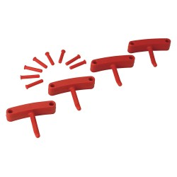 Vikan - 10164 - Replacement Hooks for Wall Bracket, Red