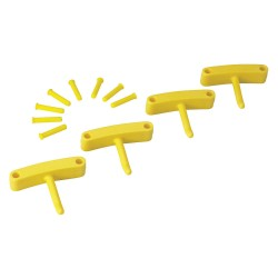 Vikan - 10166 - Replacement Hooks for Wall Bracket, Yelllow