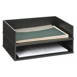 Victor - 1154-5 - Stacking Letter Tray, Black