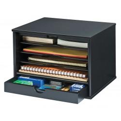 Victor - 4720-5 - Desktop Organizer, Black, 5 Compartments