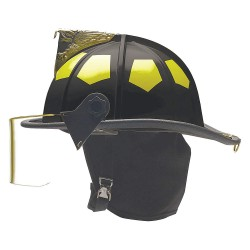 Bullard - UM6CZ - Black Fire Helmet, Shell Material: Thermoglas/Fiberglass, Standard Sure-Lock Ratchet Headband Sus