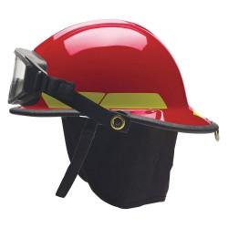 Bullard - FXSRDGFP2 - Red Fire Helmet, Shell Material: Thermoglas/Fiberglass, Standard Sure-Lock Ratchet Headband Suspe