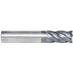 5 Axis Grinding - 40250R - End Mill, 1/4 Milling Dia., Number of Flutes: 4, 3/4 Length of Cut, TiAlN