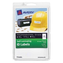 Avery Dennison - 00760 - Laser/Inkjet Label, 25/64 in. H, PK10