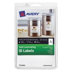 Avery Dennison - 00761 - Laser/Inkjet Label, 25/64 in.H, White, PK10