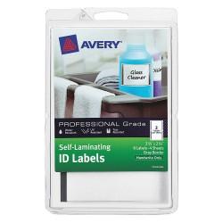 Avery Dennison - 00746 - Laser/Inkjet Label, 7-1/8 in. W, PK4