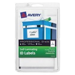 Avery Dennison - 00745 - Laser/Inkjet Label, 25/64 in. H, PK4